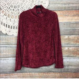 True Grit   Metallic Mock Turtleneck Sweater